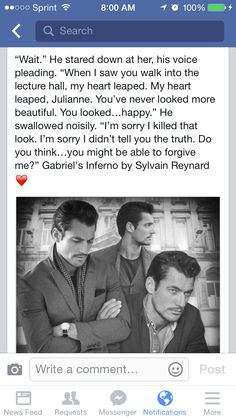 Makes  me want to go back and read the series again. Gabriel's Inferno by Sylvain Reynard