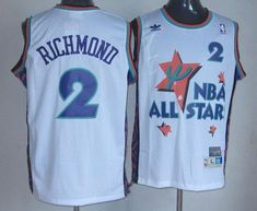4b999fa19 Kings  2 Mitch Richmond White 1995 All Star Throwback Stitched NBA Jersey  Cheap Nba Jerseys