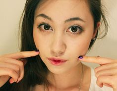 Sachie from Youtube wearing our GEO Angel circle lenses <3