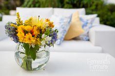 Chá no Jardim {Casamentos e Inspirações}: Decoração Amarelo + Azul Turquesa {Meu Casamento}