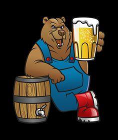 Beer Cartoon, Scooby Doo, Birthday Beer, Bear, Poster, Fictional Characters, Design, Bears