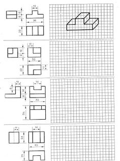 Imagen relacionada Oblique Drawing, Isometric Drawing Exercises, Autocad, Isometric Paper, Orthographic Drawing, Axonometric Drawing, Interesting Drawings, Working Drawing, Geometric Drawing