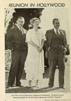 Lionel, John, and Ethel Barrymore.