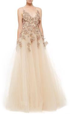 Monique Lhuillier Camisole Ball Gown - Preorder now on Moda Operandi