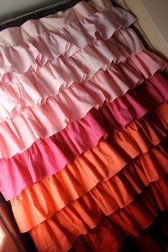 Fading Waterfall Shower Curtain Pink To by SelahJamesHandmade, $150.00