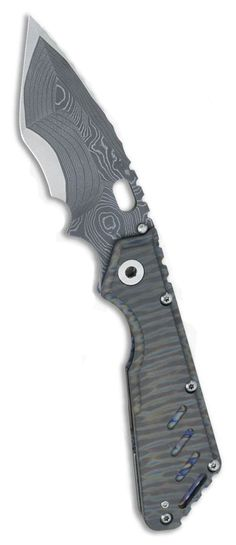 Mick Strider Custom XL Stellite 6K San Mai Flamed Frame EDC Folding Pocket Knife Blade