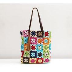bolsa de quadros em croche - Pesquisa Google