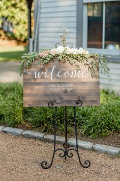 Wedding Welcome Sign – Rustic Wood Wedding Sign – Sophia Collection - Wedding Decorations Welcome To Our Wedding, Wedding In The Woods, Rustic Chic, Rustic Wood, Bicycle Wedding, Wooden Welcome Signs, Wooden Wedding Signs, Wedding Entrance, Wedding Columns