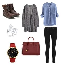"""""""Untitled #3"""" by fannyaleksei on Polyvore featuring H&M, rag & bone, Yves Saint Laurent and Larsson & Jennings"""