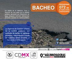 El Programa 072 de la #AGUCDMX gestiona tus solicitudes por bacheo.