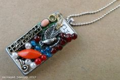 EcoFriendly Fly Away With Me  Collage Mix Media by SalvagedJewelry, $42.00