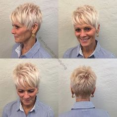 80 Best Modern Hairstyles and Haircuts for Women Over 50 - Over Blonde Pixie - Short Choppy Hair, Short Thin Hair, Short Hairstyles For Thick Hair, Hairstyles Over 50, Short Pixie Haircuts, Short Hairstyles For Women, Short Hair Cuts, Short Hair Styles, Pixie Cuts