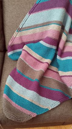 Gender Neutral Hand Knit Striped Baby by HarmonyGraceDesigns