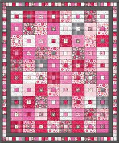 Free Quilt Pattern featuring the Lovebugs fabric collection designed by Doodlebug Designs for Riley Blake Designs #iloverileyblake