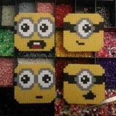 Minion coasters hama beads by hunties