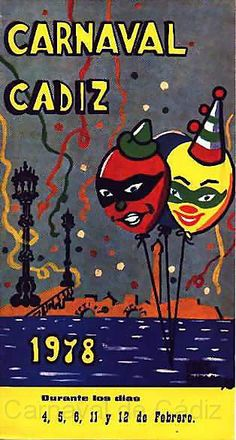 Cartel Carnaval de Cadiz año 1978