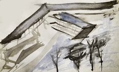 arch drawing ink sketch