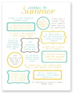 simple summer project: journal your summer - simple as that
