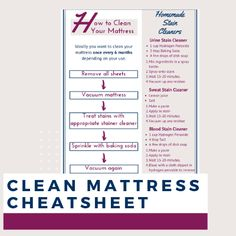 How to clean mattress stains. Urine, Blood or Sweat Stains? How to quickly remove stains and smells from your mattress.