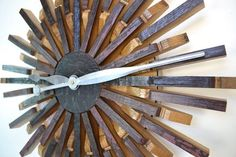 Wine Barrel Wall Art Radiant Clock by winecountrycraftsman