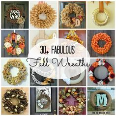 30+ Fabulous Fall Wreaths to get you inspired for the change of season! #fall #wreaths #falldecor