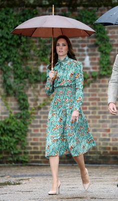 Catherine, Duchess of Cambridge is seen during a visit to The Sunken Garden at Kensington Palace on August 30, 2017 in London, England.