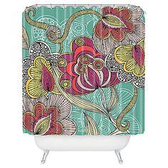 DENY Designs Valentina Ramos Beatriz Shower Curtain in Green