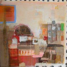 City by Hennie van de Lande - acrylic painting on canvas