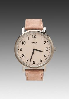 TIMEX Modern Easy Reader 42mm in Gunmetal/Brown/Natural at Revolve Clothing - Free Shipping!