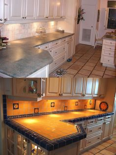 Yellow tiles doesn't sound so appealing at first. But take a look at this remodel. It is stunningly beautiful.
