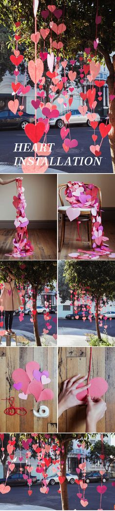 Heart Installation Idea For Valentine's Day - I really like it on a tree