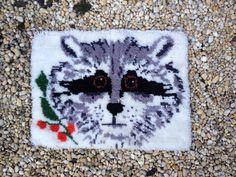 Handmade Raccoon Bath Mat by asburyparkvintage on Etsy, $28.00