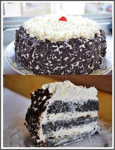 Moje Wypieki | Świąteczny tort makowy z kremem waniliowym i nutą pomarańczy