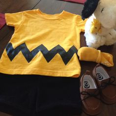 Greyson's Charlie Brown baby costume. I made everything except the snoopy doll!!
