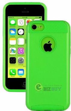 Amazon.com: myLife (TM) Bright Lime Green Style 2 Layer (Hybrid Flex Gel) Grip Case for New Apple iPhone 5C Touch Phone (External Single Pie...