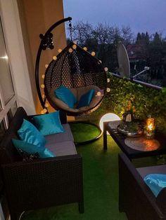 Terrace Decor, Small Balcony Decor, Small Balcony Design, Small Balcony Garden, Terrace Design, Balcony Ideas, Condo Balcony, Interior Balcony, Modern Balcony