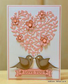 valentine's cards with birds | ... Cards Atelier: Love Birds' Valentine Card & 3 Panel Card Video