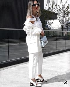 TWO WAYS TO WEAR: THE CLASSIC WHITE SUIT! - Aurela - Fashionista