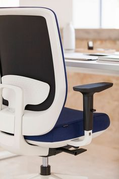 With an adjustable backrest, Trim office chair offers extensive personalisation options and features. Get a chair which enhances comfort at very competitive prices.  #actiu #furniture #office #chair Work Chair, Ergonomic Chair, Office Chairs, Deck Chairs, Desk Chairs