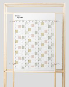 Get a head start on 2018 with this practical but very stylish printable full year wall planner. Its ideal for keeping track of upcoming events, with space to record birthdays, appointments or special events. The months are printed in vertical columns, and with the complete year all on one page, its super handy for keeping the whole year visible at a glance.  ▬▬▬▬▬▬▬▬▬▬▬▬▬▬▬▬▬▬▬▬▬▬  // FEATURES ▸ A2 size | 420mm (height) x 594mm (width ▸ Full 12 months featured | January - December 2...