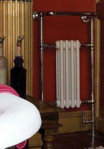 'The Stratford' traditional heated towel rail. Traditional Radiators, Column Radiators, Cast Iron Radiators, Heated Towel Rail, Home Appliances, Linden Gardens, Family Bathroom, Saint James, Design