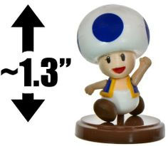 """Toad [Blue] ~1.3"""" Mini Figure [New Super Mario Bros. Wii Choco Egg Series - NO CANDY] (Japanese Import) by Furuta. $4.99. VERY RARE. Hard to Find.. Imported from Japan.. The series is made up of 14 mini figures (EACH SOLD SEPARATELY): Bramball, Fishbone, Iggy Koopa, Mario, Penguin & Brick, Penguin Luigi, Pokey copy, Propeller Mario, Toad [Blue], Toad [Yellow], Unira, Wendy O. Koopa, Yoshi [Blue], Yoshi [Pink]. WARNING: Recommended for age 15 or up ONLY. Contains ..."""