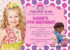 Doc McStuffins Birthday Invitation Photo Party