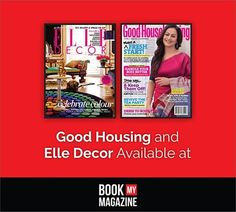 Subscribe to magazines like Good Housing and Elle Decor for the amazing home decor tips, new and cool recipes and more, at great discounts only at www.bookmymagazine.com! Did we mention doorstep delivery! #BookMyMagazine #homedecor #SubscribeNow