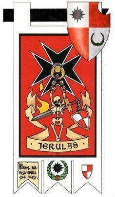 Space Marine - Warhammer 40k - Adeptus Astartes - Black Templars - Banner - Heraldry