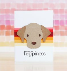 Pup Notes – laurafadora Sunnies Studios, Dog Cards, Animal Cards, Simon Says Stamp, Creative Cards, Hostess Gifts, Pattern Paper, Happy Day, Rescue Dogs
