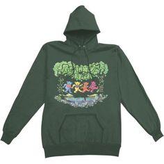 00231137039 Buy Grateful Dead Men s Woodbears Hooded Sweatshirt Green at Walmart.com Hooded  Sweatshirts