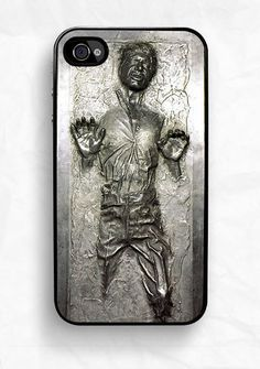 """If you're a sci fi writer, carryying this iPhone case can be a nice short hand for, """"I speak nerd.""""    iPhone 4 Case Star Wars Han Solo Frozen in Carbonite"""