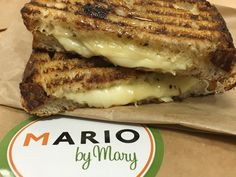 Grilled Cheese Panini with Truffle Honey - ggggreat pre-show eat