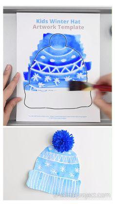 Kids Winter Hats, Winter Crafts For Kids, Winter Fun, Winter Theme, Art For Kids, Preschool Winter, Art Project For Kids, Winter Crafts For Preschoolers, At Home Crafts For Kids